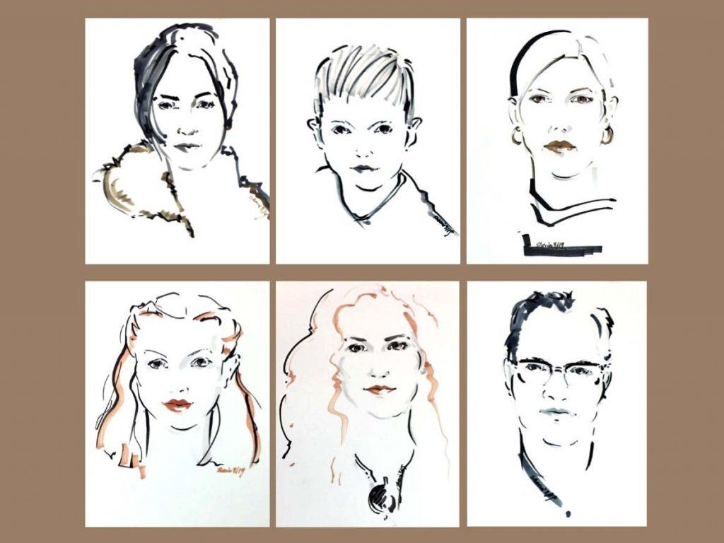 Porträtzeichnen für einen guten Zweck